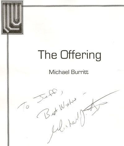 "Michael Burritt ""The Offering"""